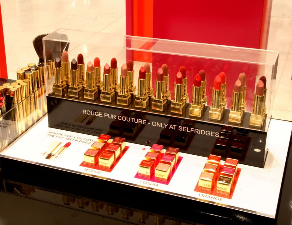 "YSL 'Rouge Pur Couture"" Lipstick Display by Elemental"