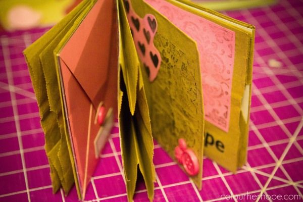 Cool idea for adults and kids alike......DIY Paper Bag Book