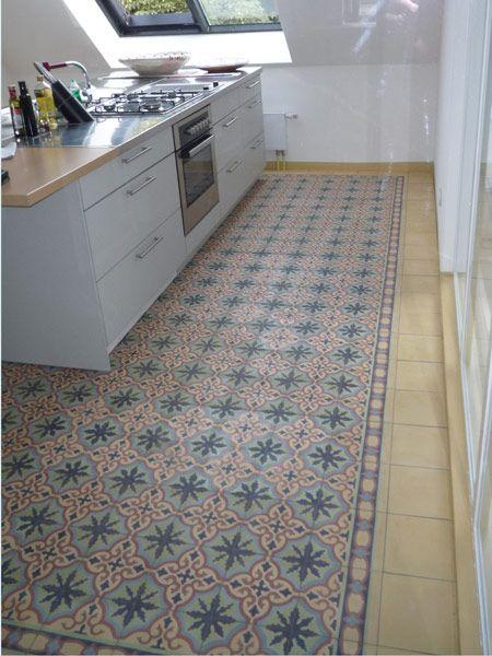 Küche mit Zementfliesen Ira 6 Fliesen Pinterest