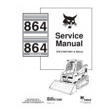 bobcat 864 864hf track loader service manual pdf bobcat manuals rh pinterest com