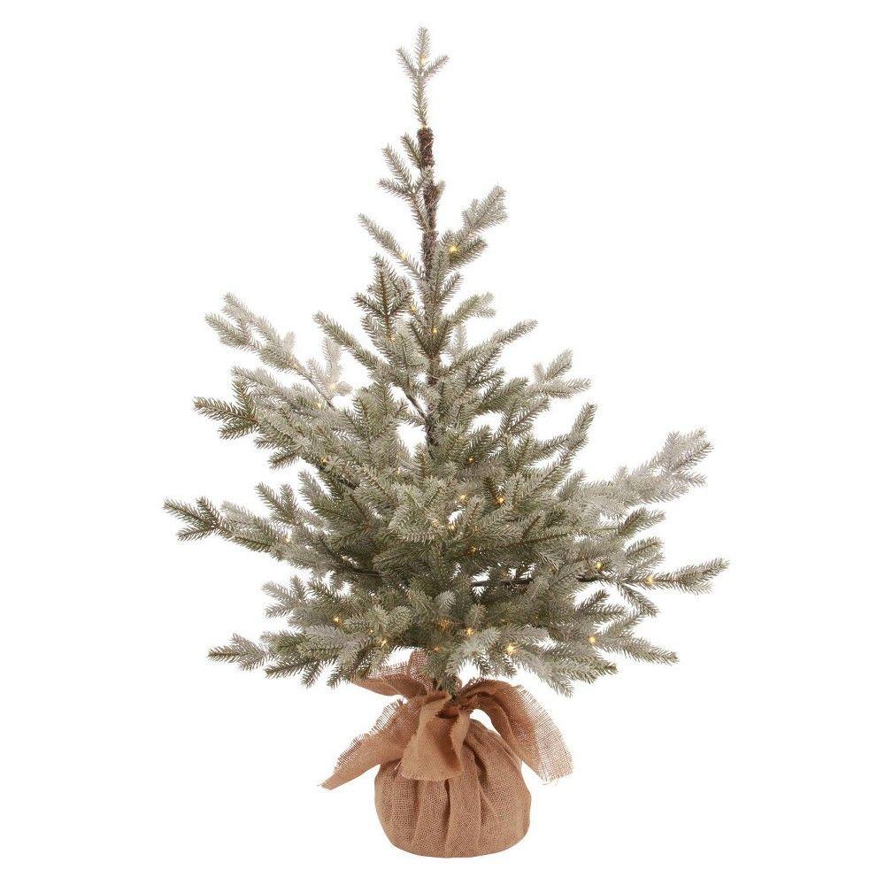 3ft Flocked Pre Lit Slim Artificial Christmas Tree Potted Balsam Fir War Slim Artificial Christmas Trees Best Artificial Christmas Trees Pre Lit Christmas Tree