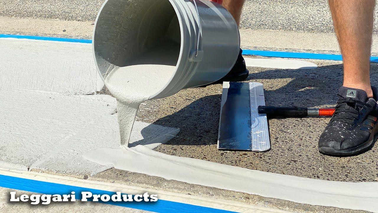 How to repair old concrete resurface concrete sidewalk