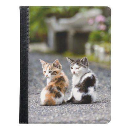Two Cats - Apple iPad 2/3/4 Folio Case - cat cats kitten kitty pet love pussy
