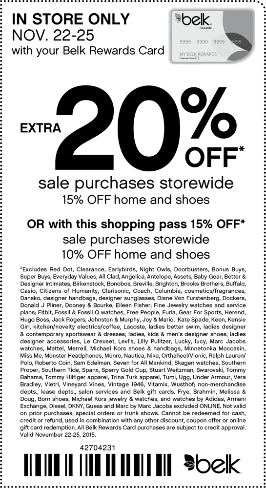Pinned November 25th Extra 15 Off Sale Items At Belk Coupon Via The Coupons App Shopping Coupons Printable Coupons Clothing Coupons