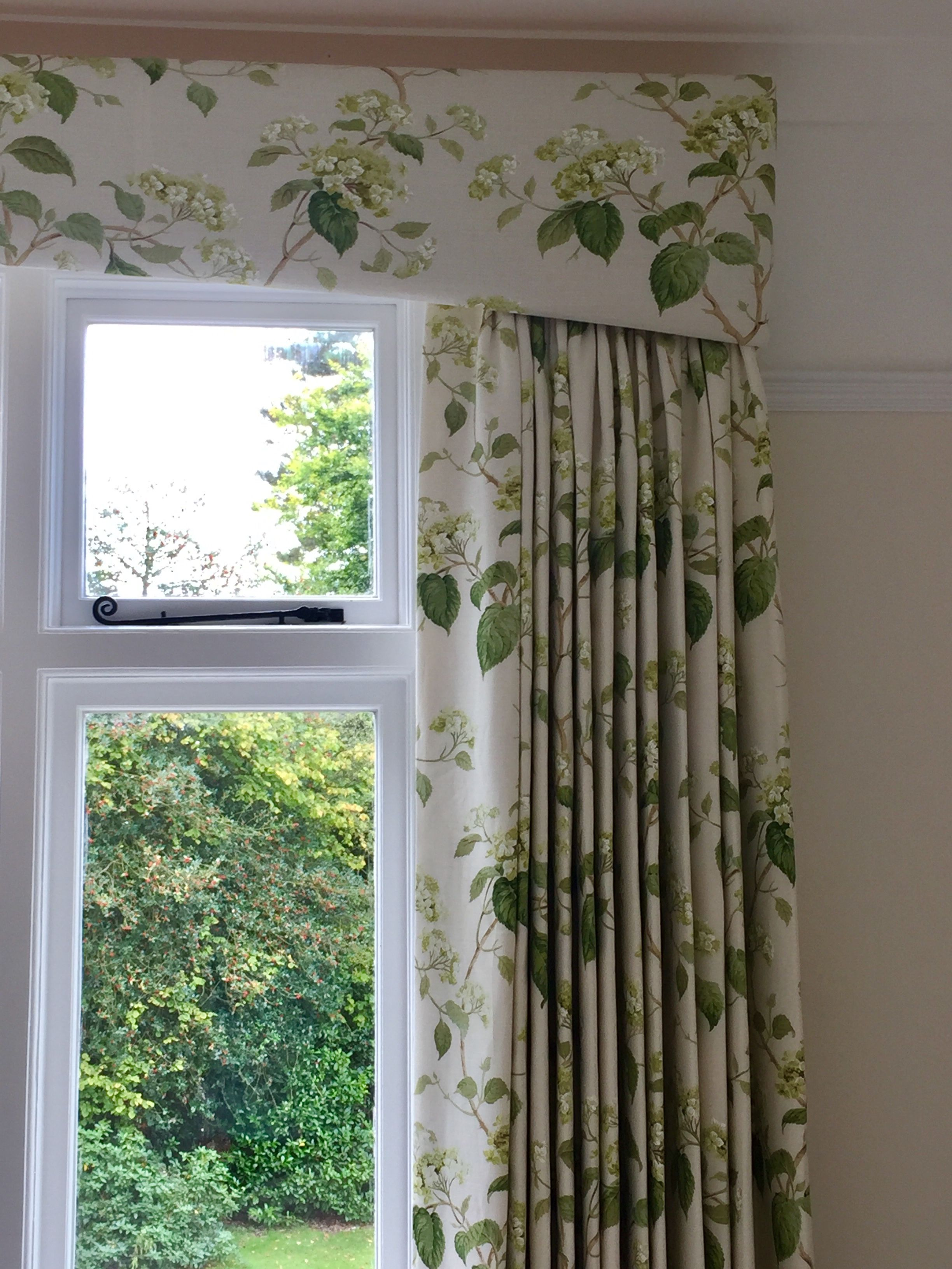 Colefax And Fowler Curtains And Gently Shaped Pelmet In A Smart
