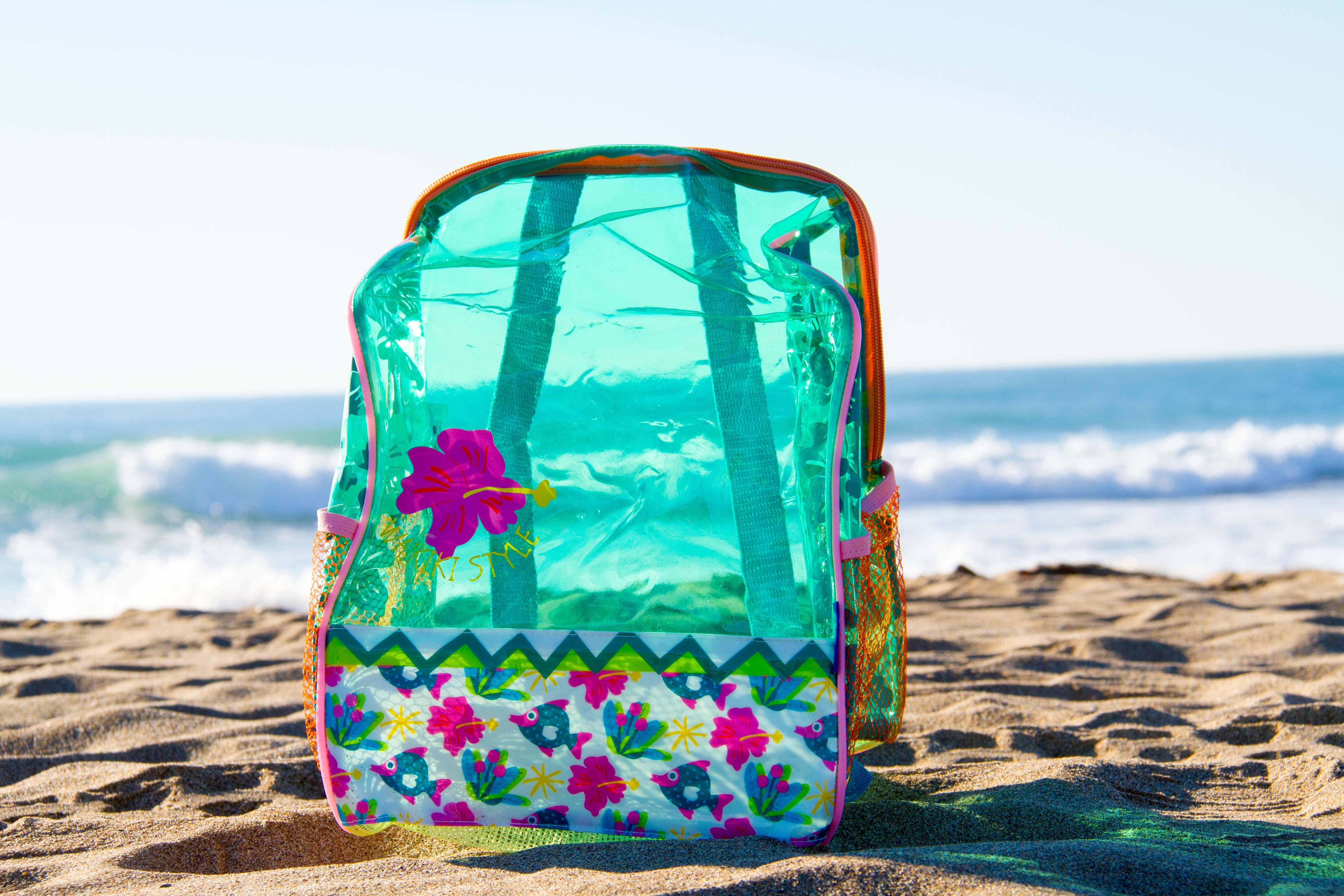 Mochila De Playa Transparente De Color Verde Juguetes De Playa Juegos De Playa Playa