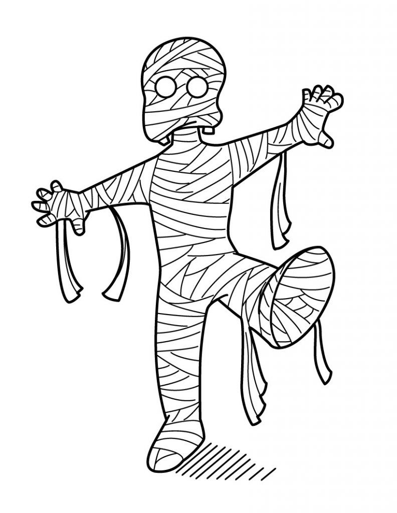 Mummy Clipart Is The Best Choice For Halloween Party And Haunted House Decor Monster Coloring Pages Halloween Coloring Cartoon Coloring Pages