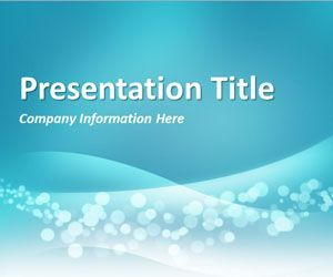 Wavy Blue Powerpoint Template Is An Original Powerpoint Template