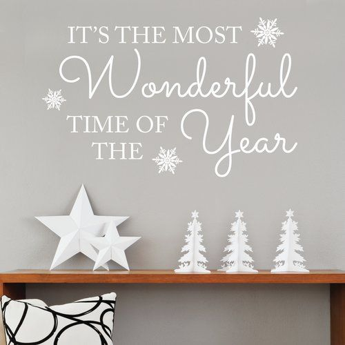 Wandsticker It's the Most Wonderful Time of Year East Urban Home Farbe: Rot