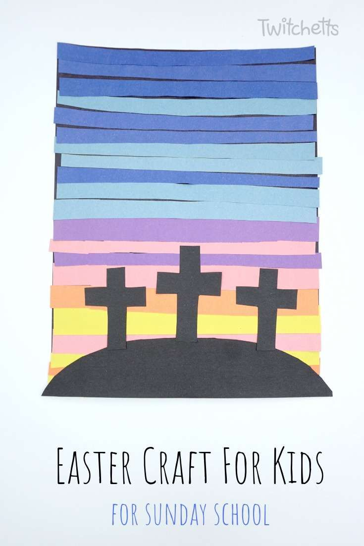 An Easy Sunday School Easter Craft Of The 3 Crosses Bible Lesson