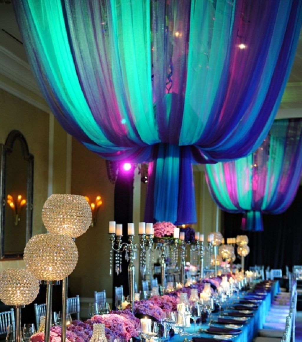 Purple-and-turquoise-wedding-decor-for-summer