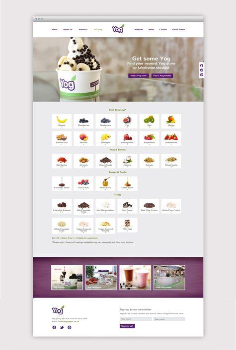 Yog Yoghurt Responsive Website Long Story Short Responsive Web Design Yog Website Design Design Yoghurt