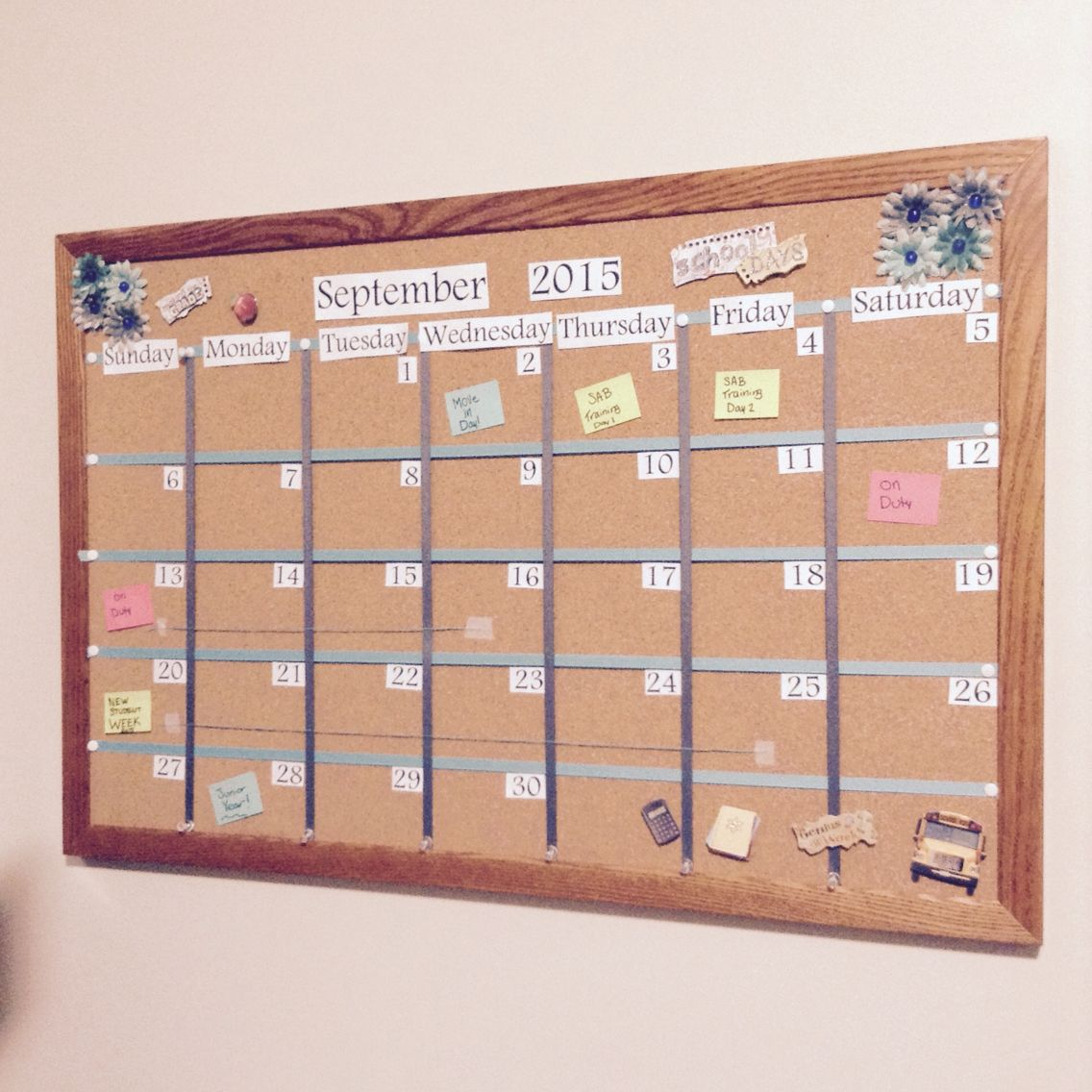 Dorm Room Cork Board Calendar College Dorm Cork Board Dorm