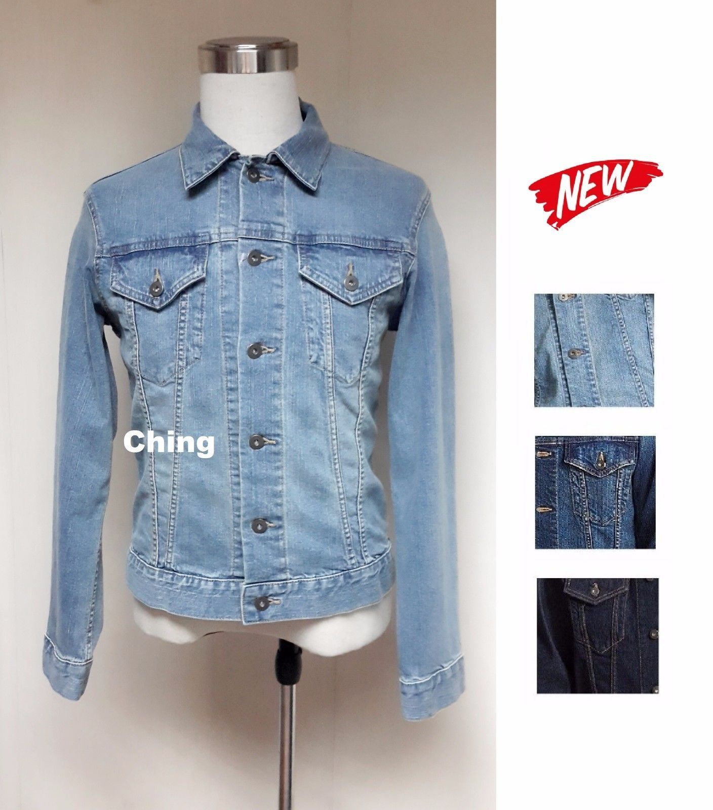 S Xl Uniqlo Women Denim Jacket 3 Colors 187472 Products