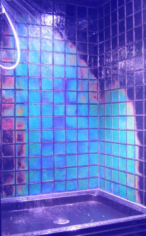 Purple And Blue Bathroom