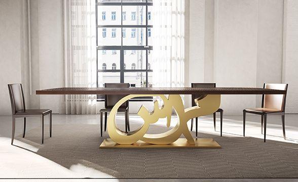 Kashida Design 3d Arabic Calligraphy Office Furniture Modern Furniture Design Furniture