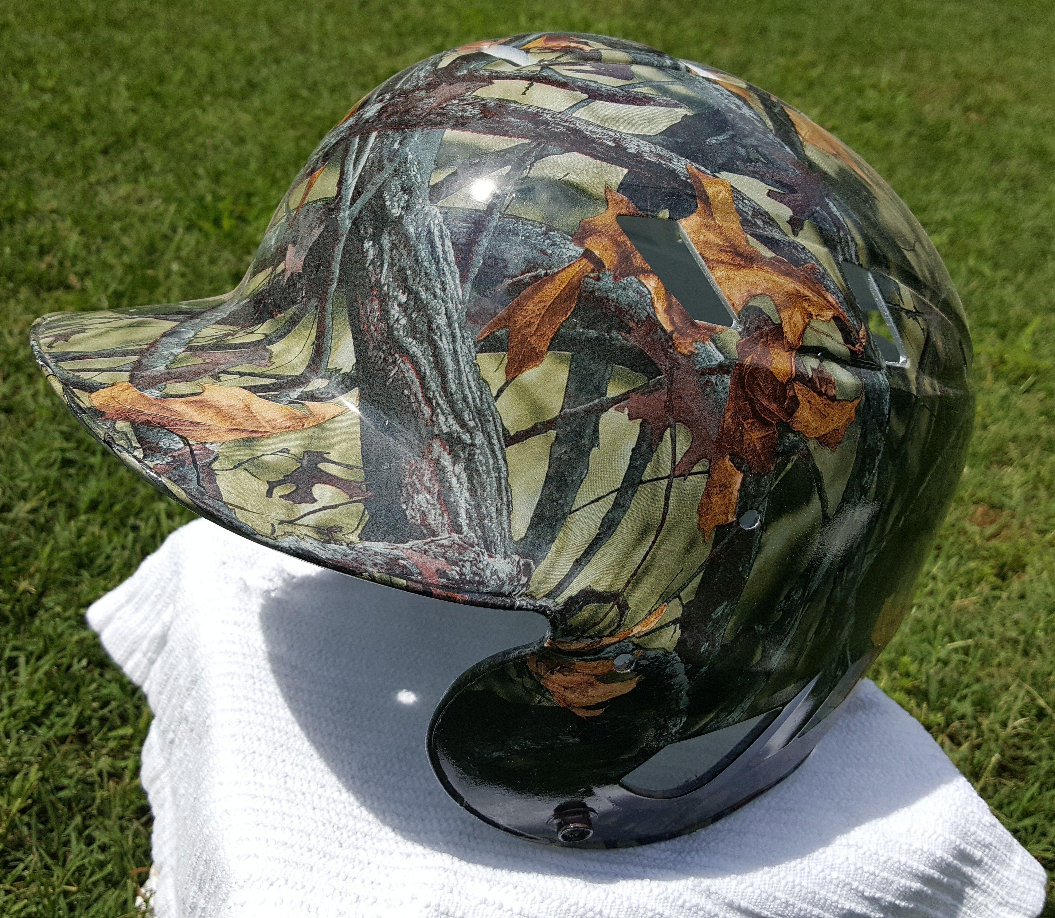 Cheap Rims Near Me >> Custom hydro dipped camo baseball helmet by Toxic Hydrographics | Cheap baseball jerseys, Youth ...