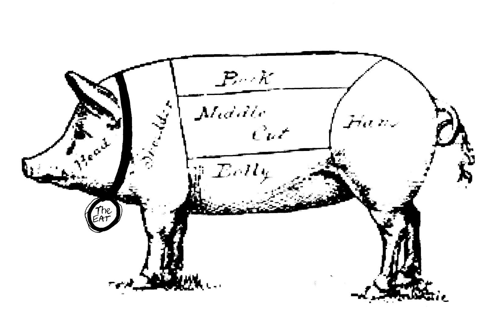 Pig With Butcher Images
