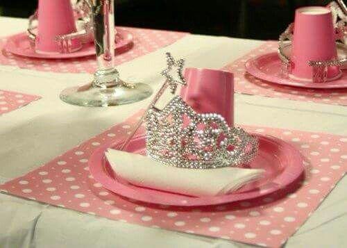 Crown table set up Party ideas Pinterest Princess party