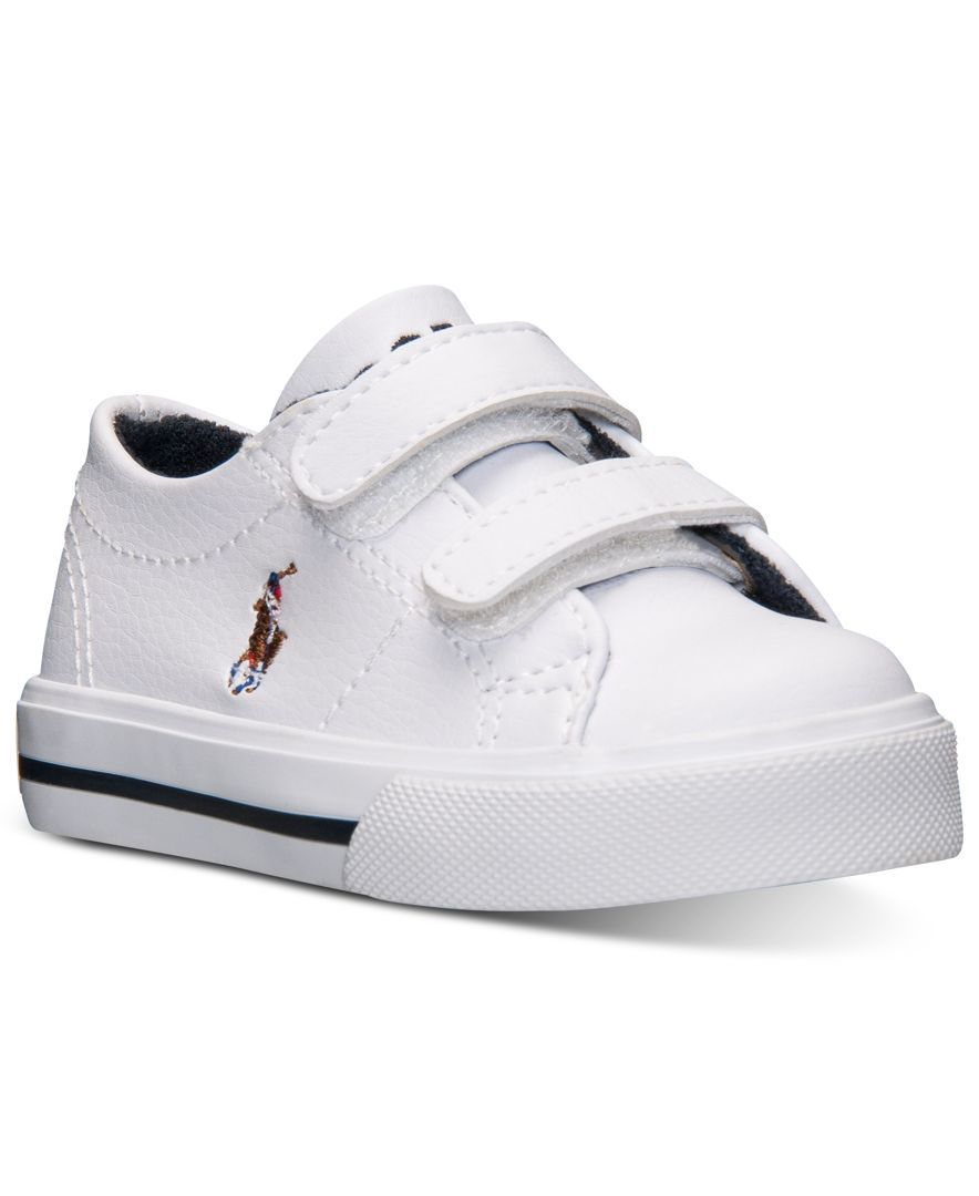 56440345b Polo Ralph Lauren Toddler Boys' Scholar Ez Casual Sneakers from Finish Line