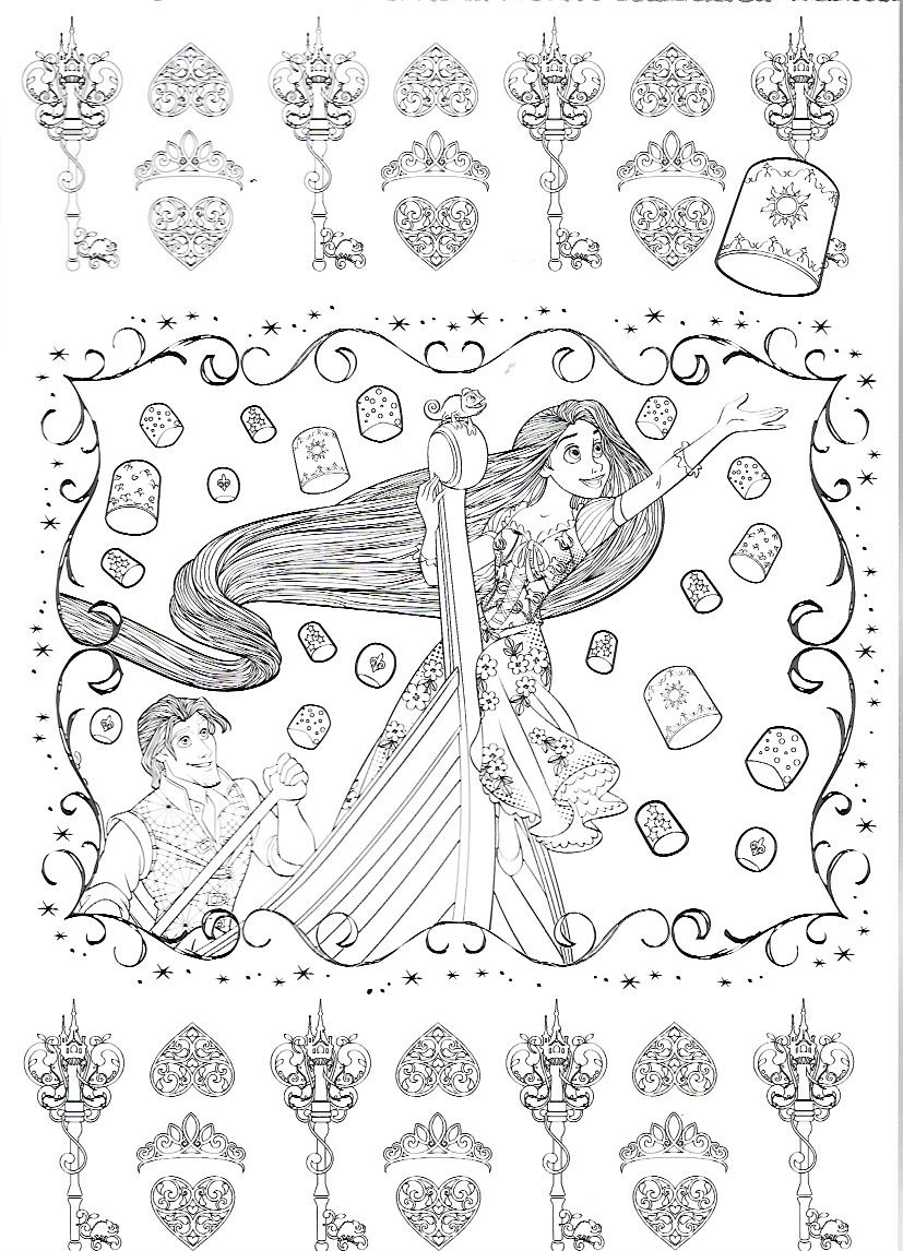 Pin by marjolaine grange on coloriage raiponce | Pinterest