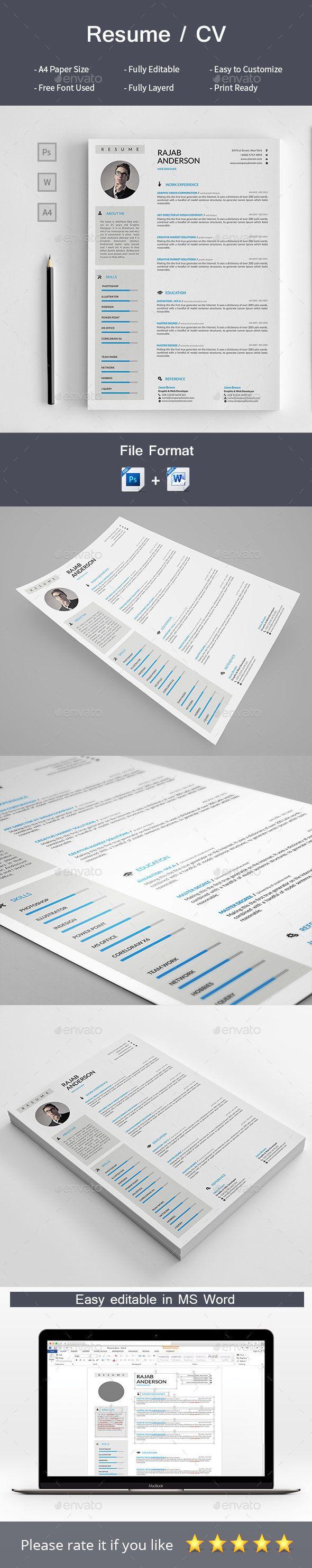 Resume/CV | Plantilla cv y Plantas