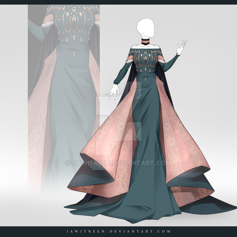 Coronation Dress Elsa Anime Dress Art Clothes Anime Outfits