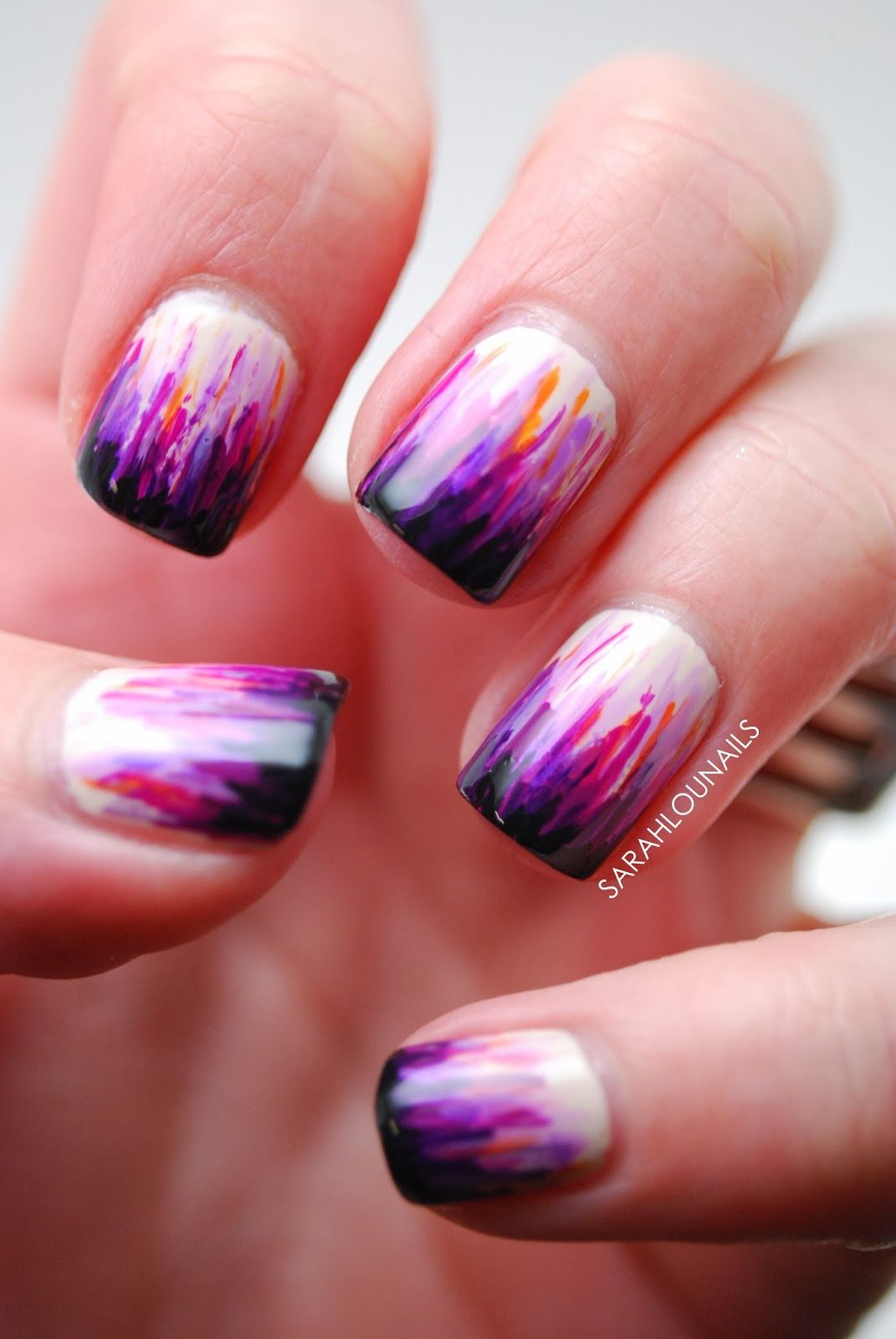 How To Do Ombre Nail Art At Home Ombre Nail Art Ombre And French