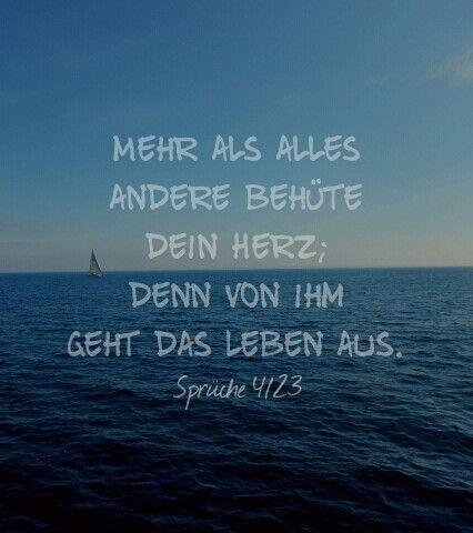 sprüche aus der bibel Sprüche 4/23 … | Deutsch Bibel | Pinte… sprüche aus der bibel