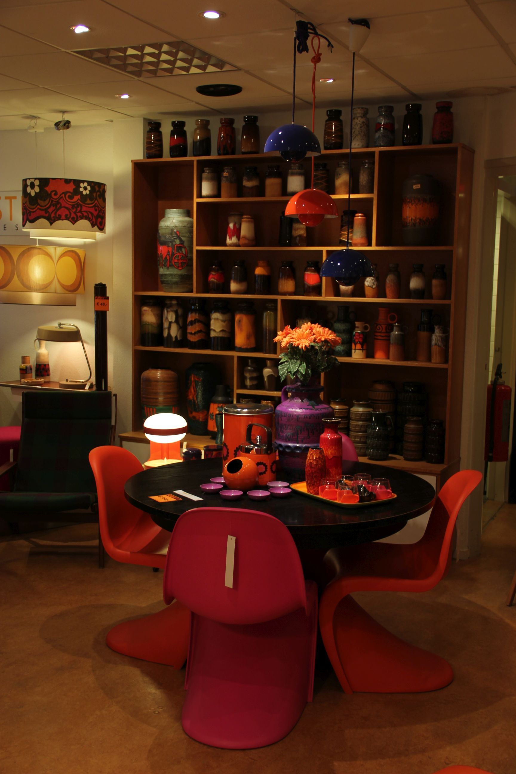 I Love The Panton Chairs In Orange And Pink!