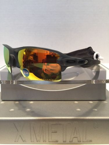 93a621abd6 Oakley Flak Jacket 2.0 Matte Gray 9188-10 Fire Iridium Polarized NEW Free  S H