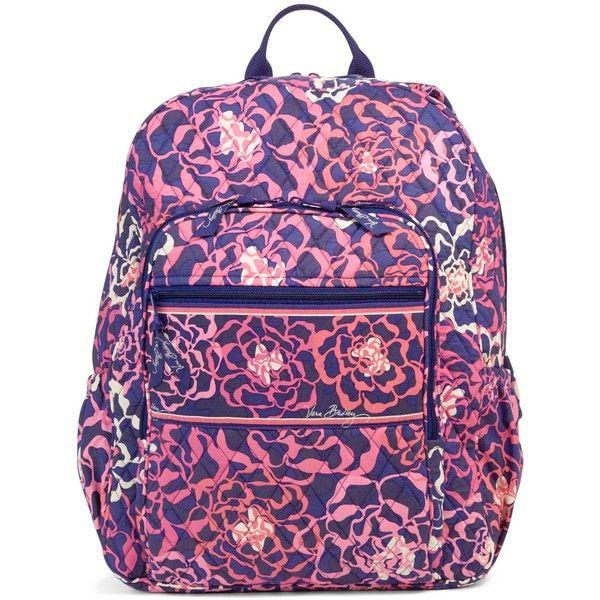 Vera Bradley Campus Backpack in Katalina Pink ( 109) ❤ liked on Polyvore  featuring bags, backpacks, katalina pink, zip bags, padded bag, cross bag,  ... c179f853bf