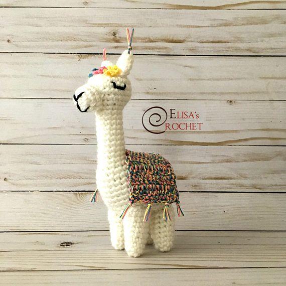 Amigurumi Crochet Doll VIOLET the Alpaca / Stuffed Doll / Lama ...