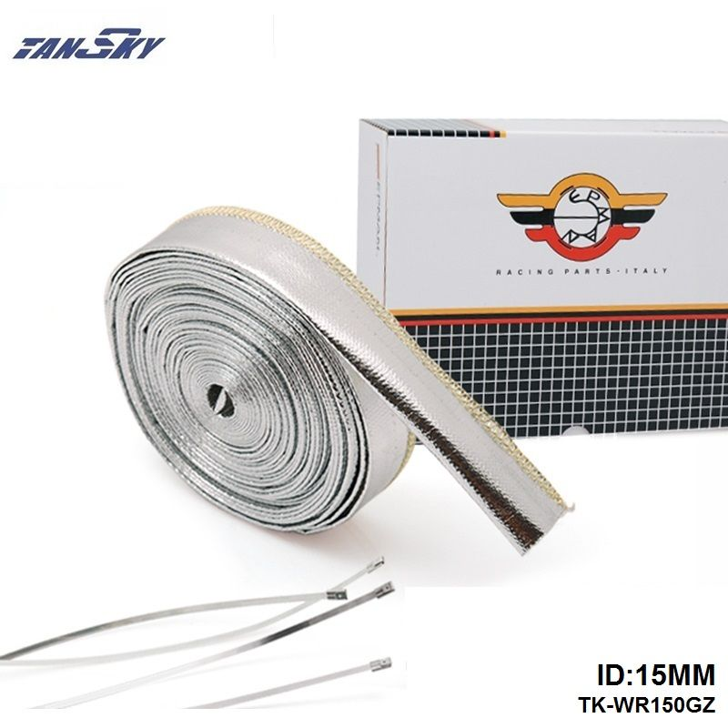Tansky Aluminized Metallic Heat Shield Sleeve Insulated Wire Hose Wrap 15mm 10meter For Ford Falcon Ba Bf Xr6 Turbo Tk Replacement Parts Insulated Vw Passat