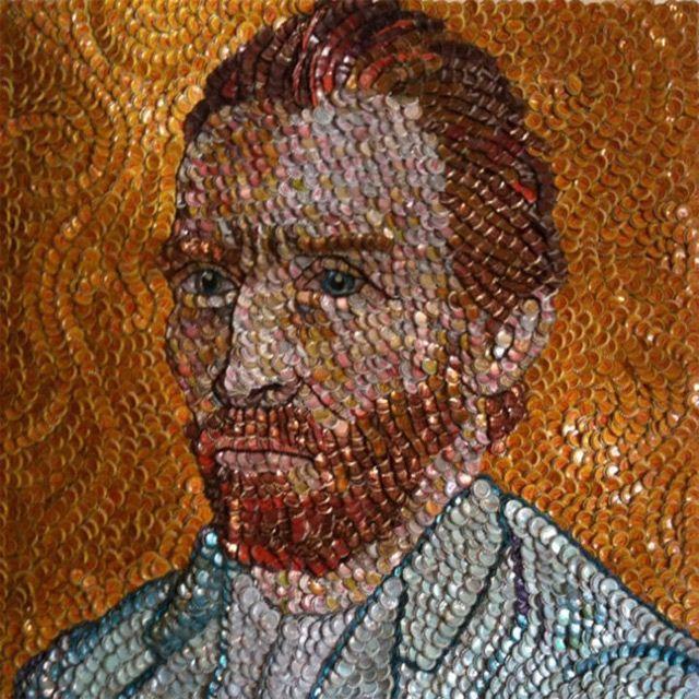Bottle Cap Portraits recycled mural ideas Pinterest Portrait