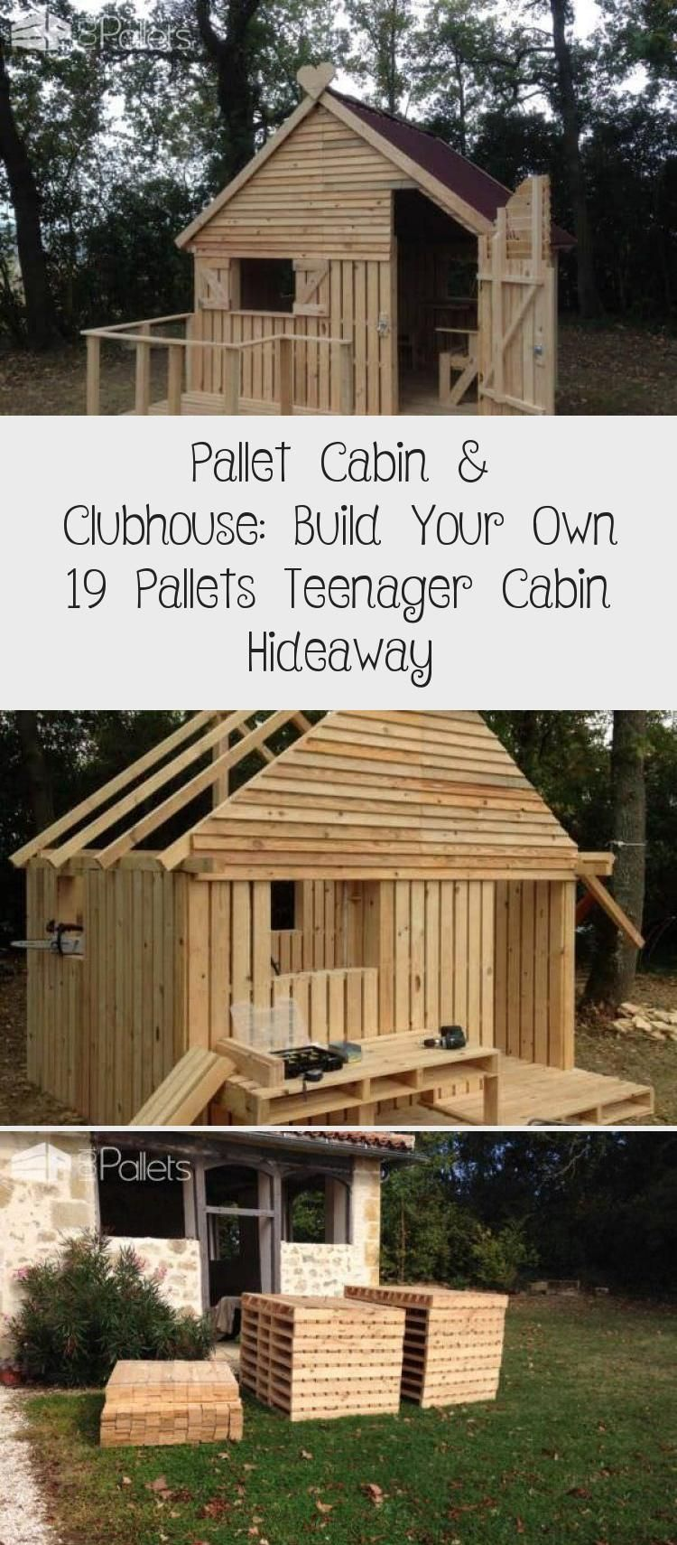 Photo of 19 Pallet Teenager Cabin Hideaway Fun Pallet Crafts for Kids Pallet Sheds, Palle …