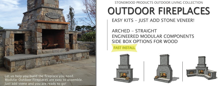 Outdoor Fireplace Kits In Various Styles. Just Add Stone Veneer.