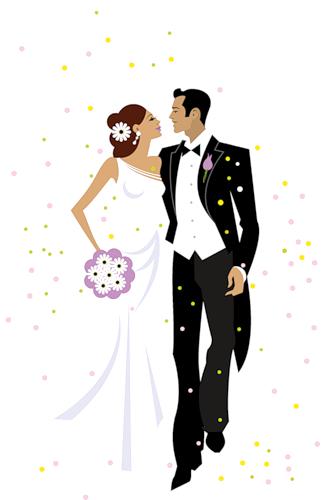 3a986e40f Wedding Vector Illustration. | NOVIAS | Ilustración de boda ...