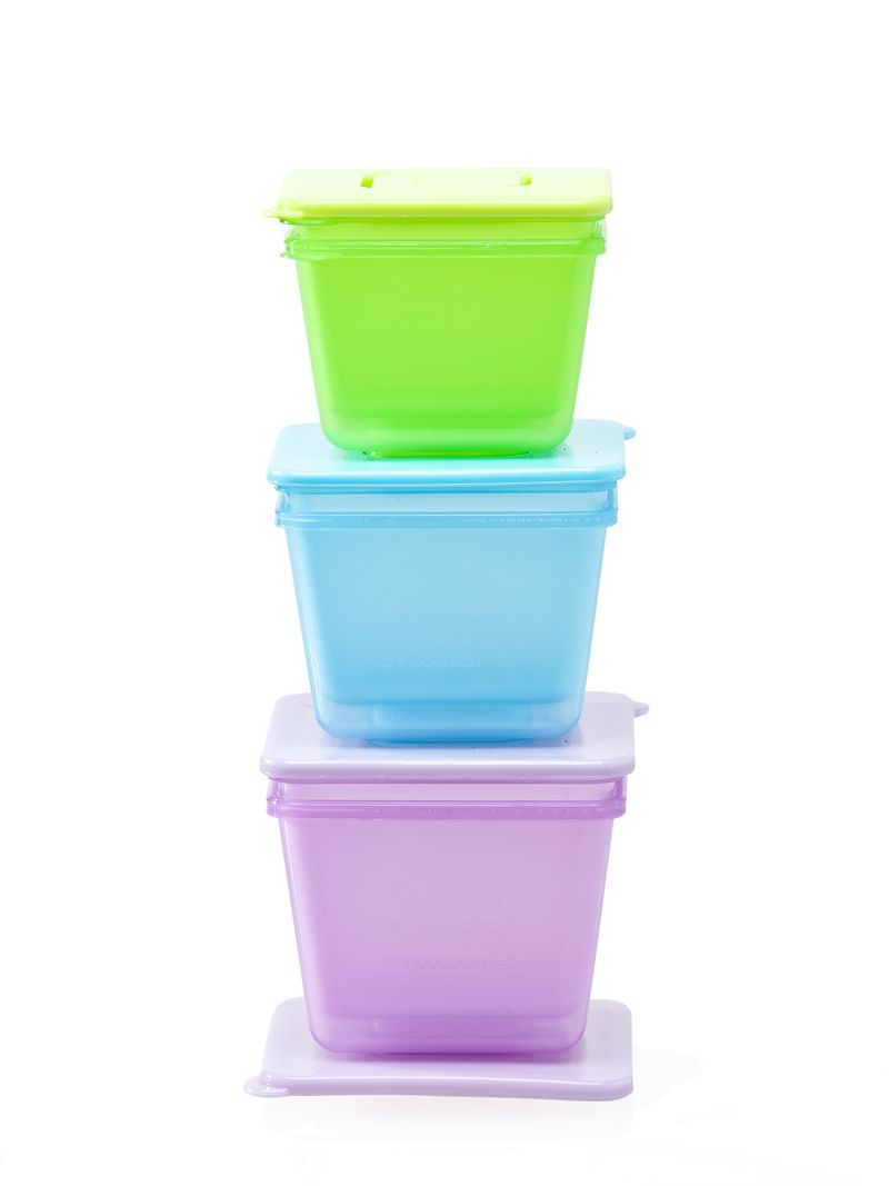 Annabel Karmel 6 Stackable Food Pots Baby Food Containers Baby