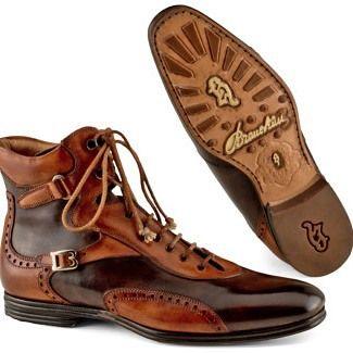 Stefano Branchini | Мужская обувь сапоги, Мужские кожаные