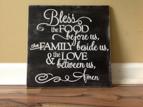 Bless the food before us the family beside us and by GAGirlDesigns, $36.00 #blessing #etsy #handmade