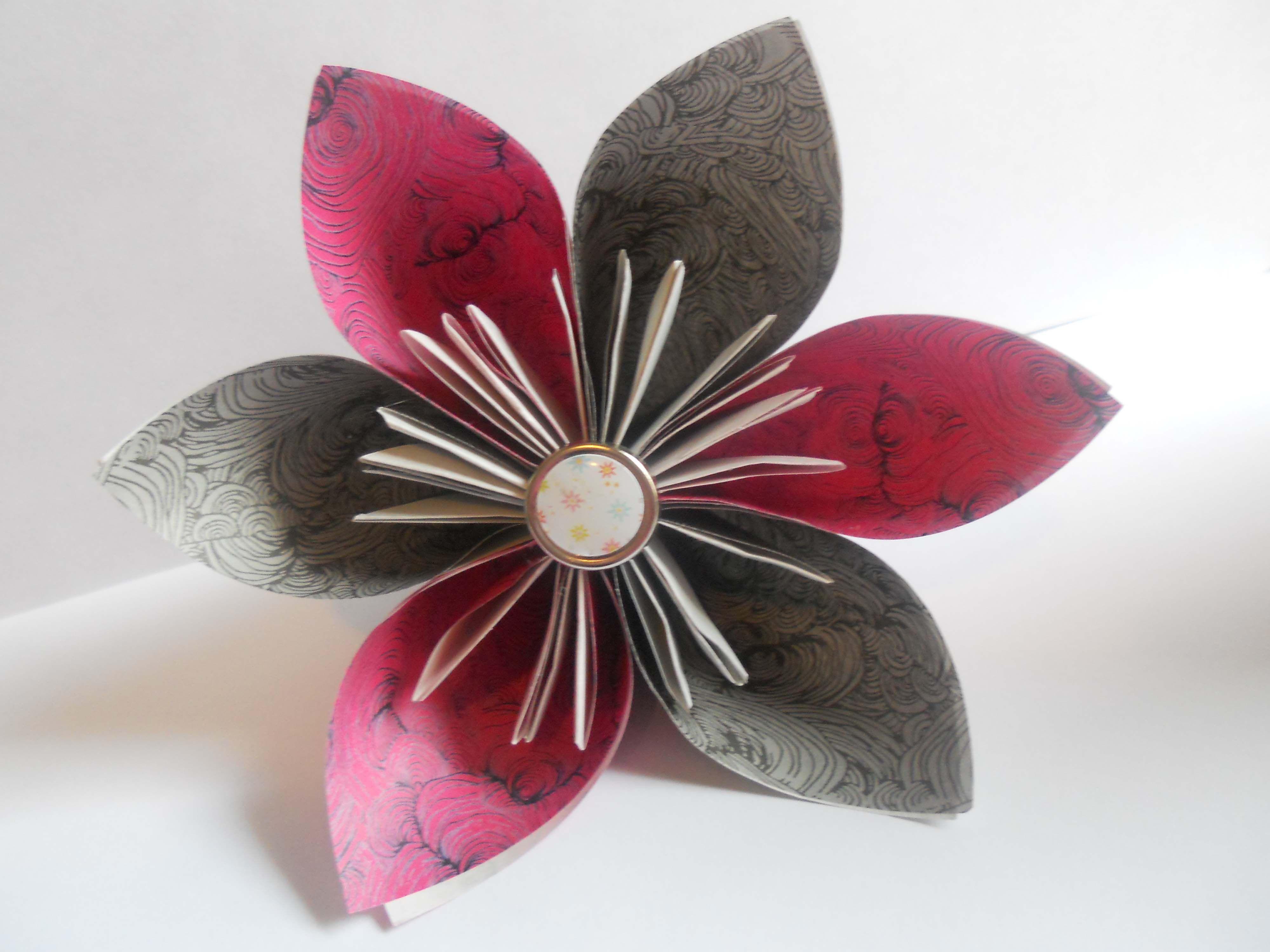 7 Steps To A Pretty Origami Kusudama Flower Easy Origami Origami