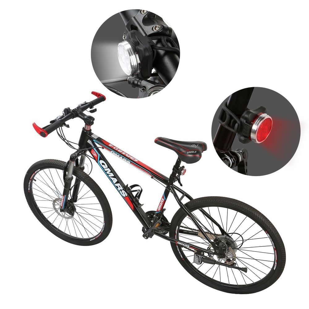 Light Set For Bike Usb Rechargeable 4 Led Front Rear Water