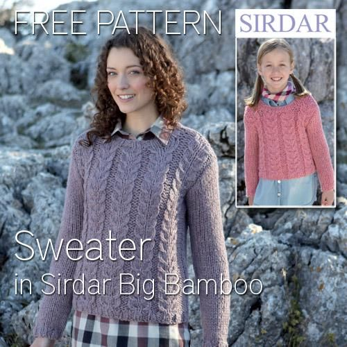 Free And Easy Cable Jumper Pattern Free Knitting Patterns