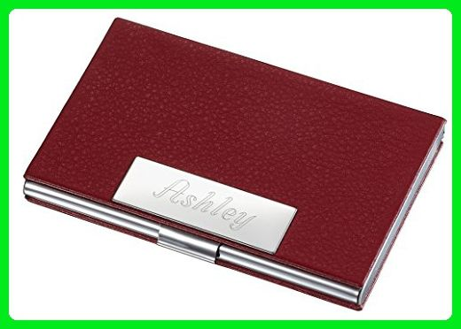 Personalized samantha red leather business card case for women personalized samantha red leather business card case for women wallets amazon partner colourmoves