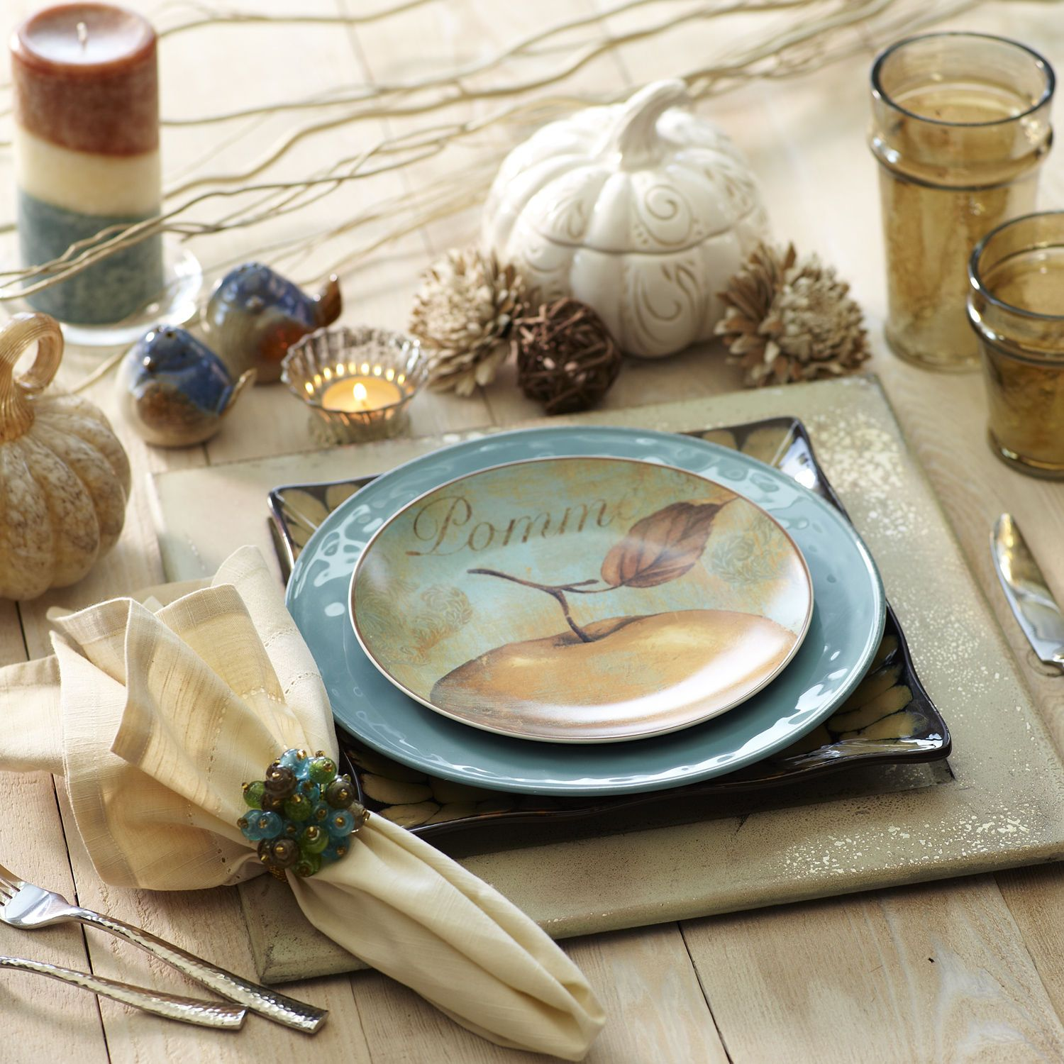 not too crazy about this one - Fall Shimmer Place Settings from ...