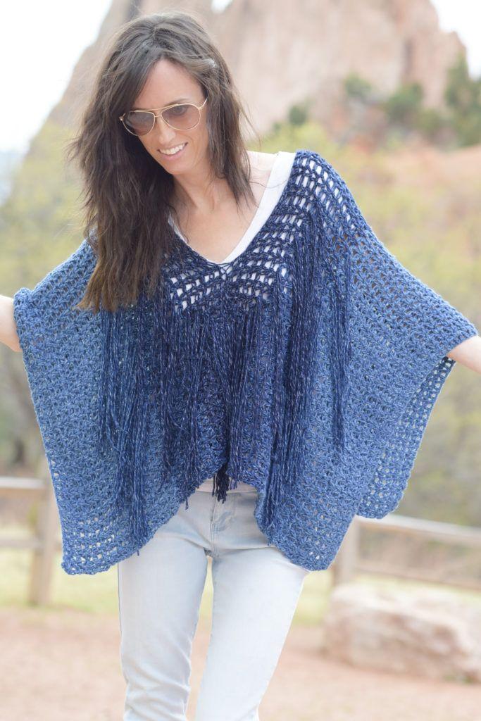 Pin de Chantal Picard en Crochets | Pinterest | Ponchos, Vestidos ...