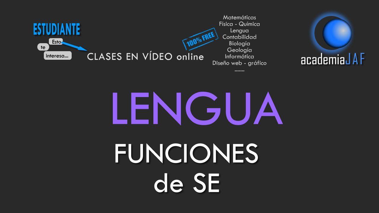 Funciones gramaticales de SE - Análisis Sintáctico Lengua Española - aca...