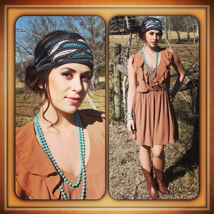 """Pink Pewter headwrap style """"Aria"""" 