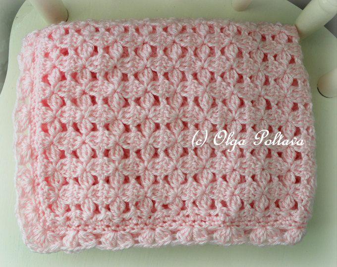 Pink Clusters Baby Blanket Crochet Pattern Baby Afghan Pattern